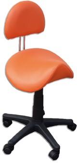 Sattelhocker mit Lehne, orange